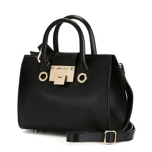 Jimmy Choo Mini Riley Leather Tote/Crossbody Bag